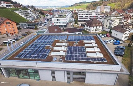 Photovoltaikanlage Kreuzgarage Willisau | © Sigmatic AG Sursee